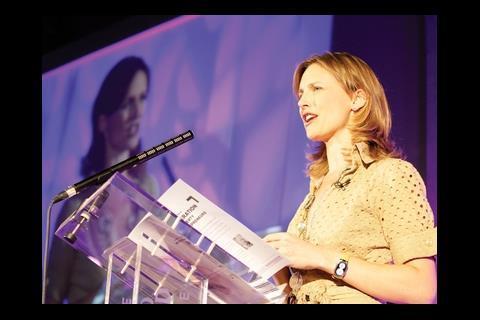 TV presenter Katie Derham at the evening winners event
